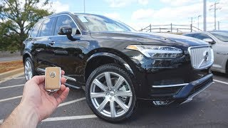 2018 Volvo XC90 Inscription T6: Start Up, Test Drive Walkaround and Review
