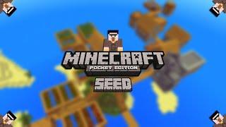 Mapas Epicos no Minecraft Pocket Edition #3 - Seed da Vila do Mar (MCPE)
