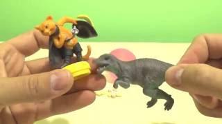 Динозавры.Игрушки Динозавры и Сюрприз яйцо ЛАПУСИКИ.Обзор Кот в Сапогах.Toy Dinosaur Surprise toy