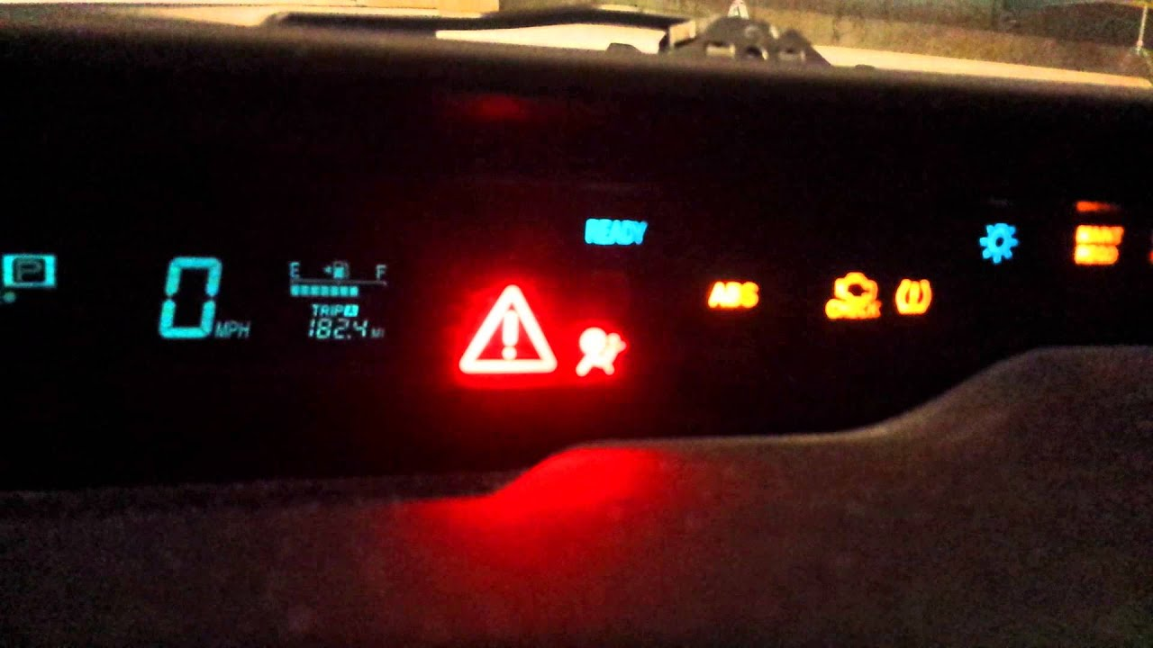 toyota prius warning lights red exclamation point. Black Bedroom Furniture Sets. Home Design Ideas