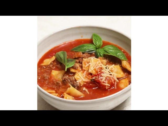 How to make Ravioli soup