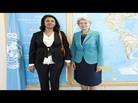 Eritrean Ambassador Hanna Simon presents credentials to UNESCO Director General   ERiTV