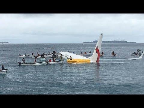 Air Niugini plane comes down in Micronesia lagoon