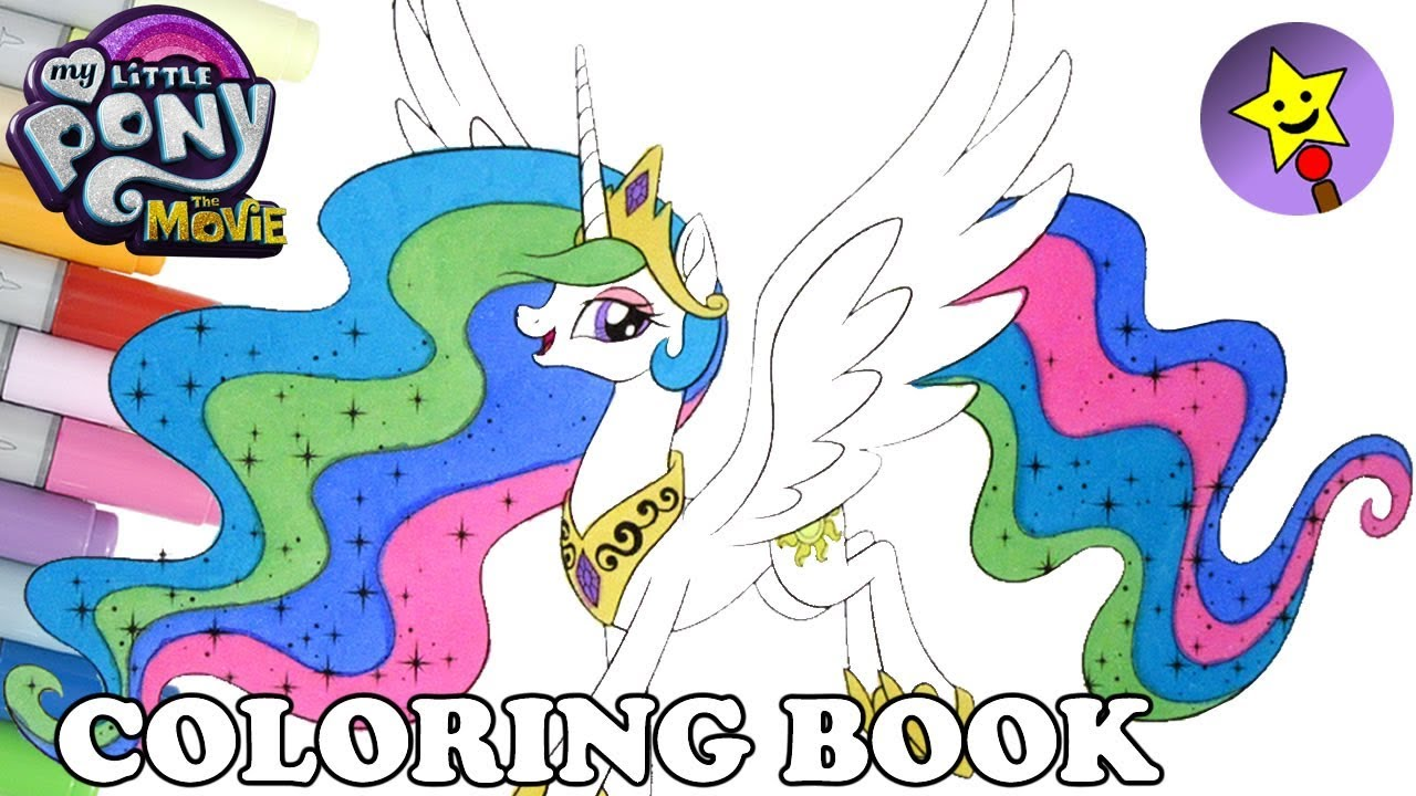 princess celestia coloring book mlp my little pony the movie coloring page - Princess Celestia Coloring Page
