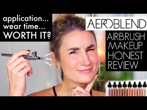 Airbrushing My Makeup Aeroblend 2 0 Makeup Wear Test Review