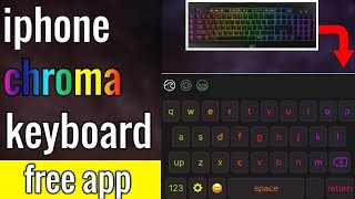 iphone awasome keyboard (chroma)