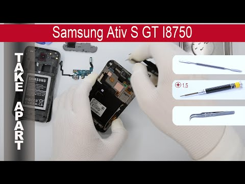 How to disassemble 📱 Samsung Ativ S GT-I8750, Take Apart, Tutorial