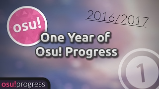 My one year of osu! progress (2016-2017)