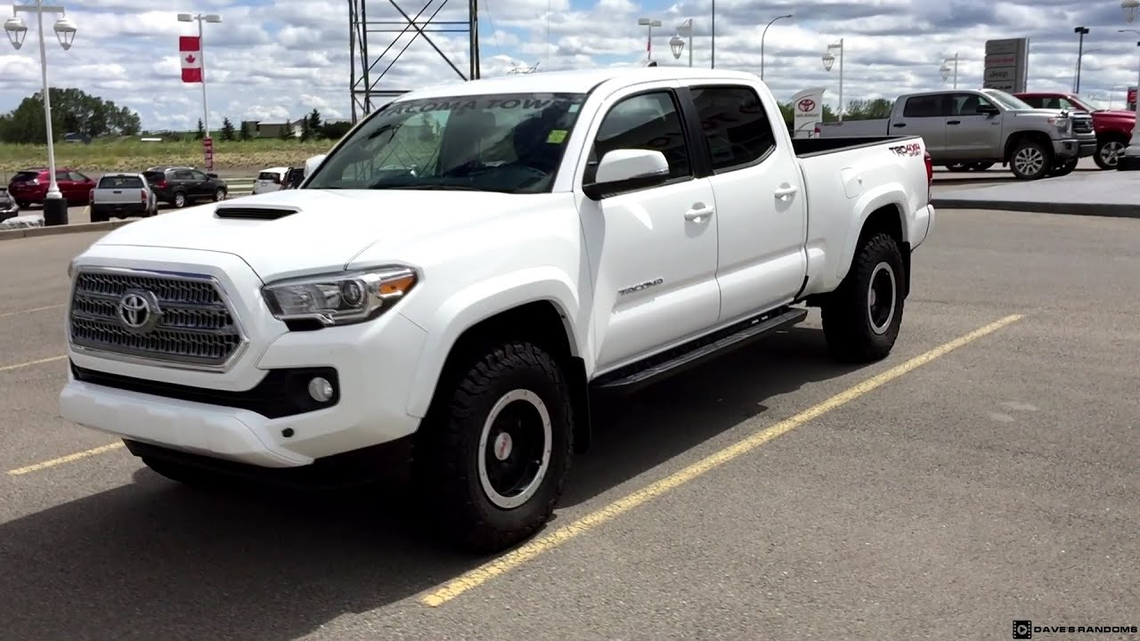 2016 Toyota Tacoma TRD Sport on 265/75R16 Tires - YouTube