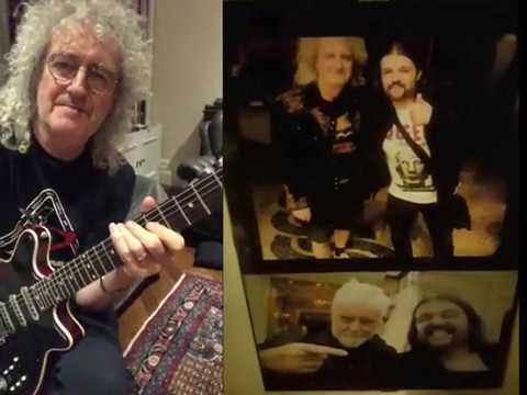 Covid-19 - Brian May Jamming With Alex VanTrue - Hammer To Fall - Queen