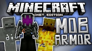 MOB ARMOR MOD!!! - Disguise Yourself & Gain New Abilities - Minecraft PE (Pocket Edition)