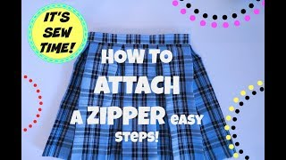 HOWTO  EASILY SEW  A ZIPPER, SEW ALONG