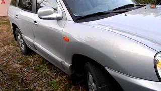 Белый повторитель поворота Hyundai Santa Fe Classic