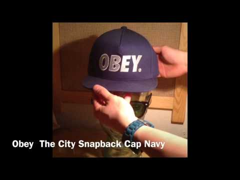 62910e1b0c8 Preview Obey  The City Snapback Cap Navy  - YouTube