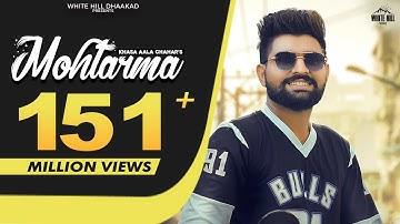 MOHTARMA (Official Video) Khasa Aala Chahar   KHAAS REEL   Ruba    New Haryanvi Songs Haryanavi 2021
