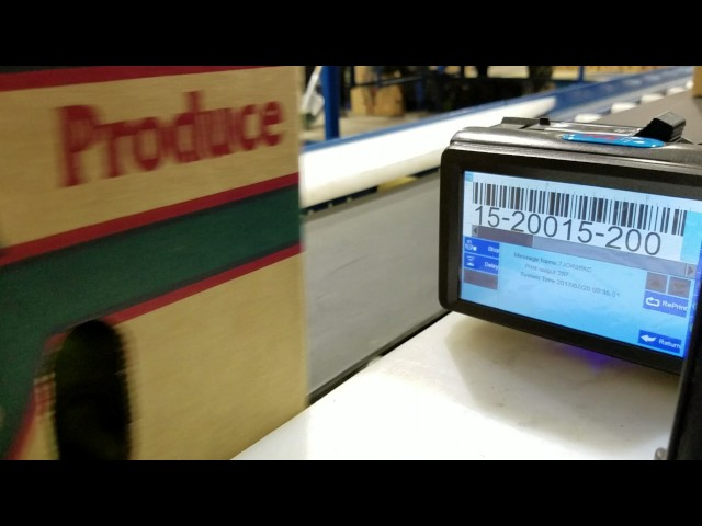 Produce Scan direct to product Inkjet printing