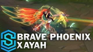 Brave Phoenix Xayah Skin Spotlight - Pre-Release - League of Legends