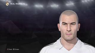[PES 2018] Zinedine Zidane - Create (Build) Face for Zidane