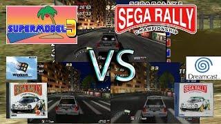 Sega Rally 2 - Dreamcast, PC & Supermodel 0.3 (new renderer) comparison
