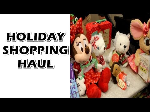 Holiday Shopping Haul At Hallmark Gold Crown Store