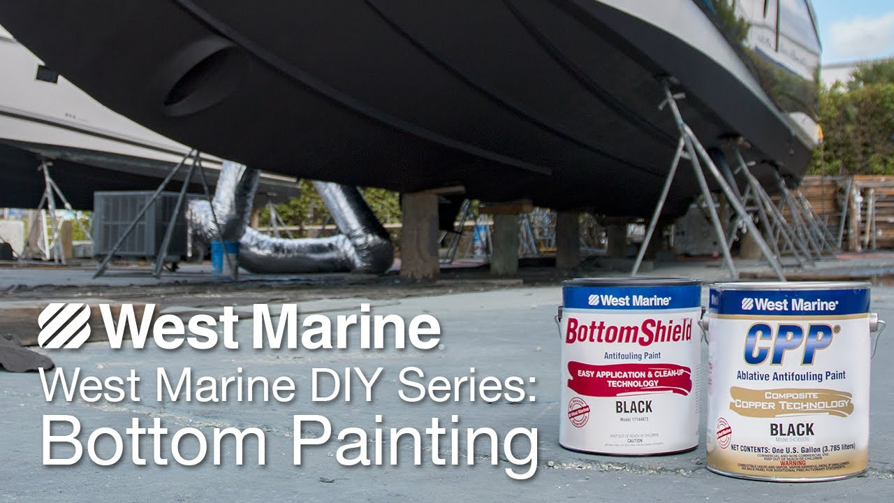 instructions for painting bottom of boat