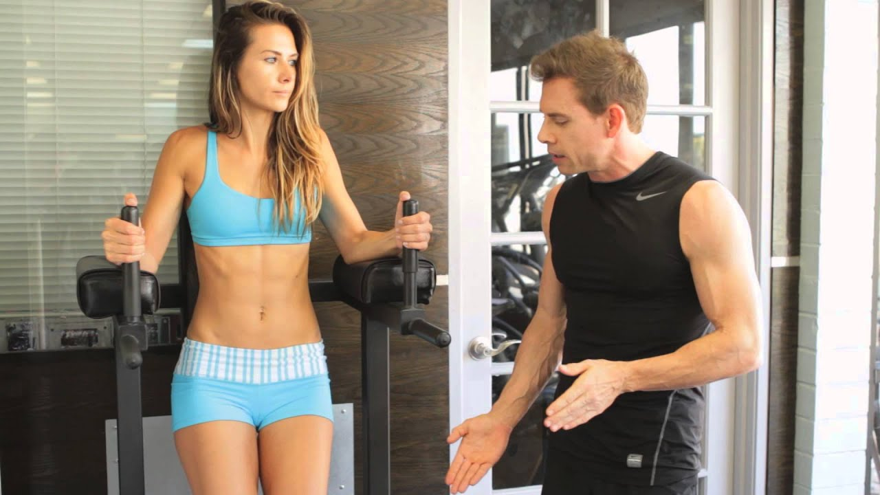 Captains Chair Leg Raise  Fitness Tips for a Healthy