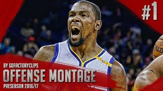 Kevin Durant Offense Highlights Montage 2016/2017 (Part 1) - Preseason Warriors Debut!