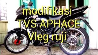MODIFIED TVS APACHE RTR160 VLEG RUJI / VLEG JARI TAPAK LEBAR