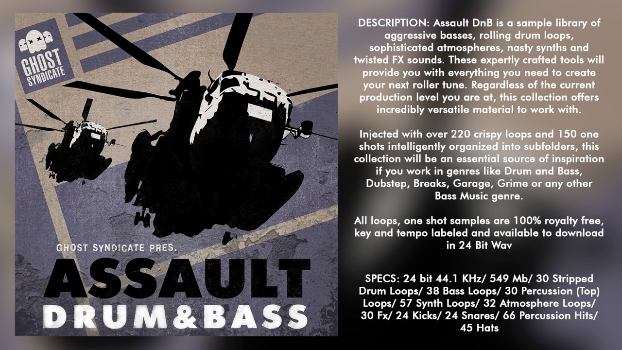 SAMPLE PACK: ASSAULT DRUM & BASS (Royalty Free): Drum and Bass ...
