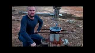 cinder block rocket stove