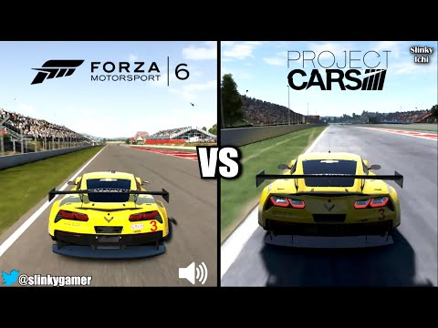 Forza Motorsport 6 vs Project CARS - Corvette C7R @ Circuit Barcelona - Graphics comparison
