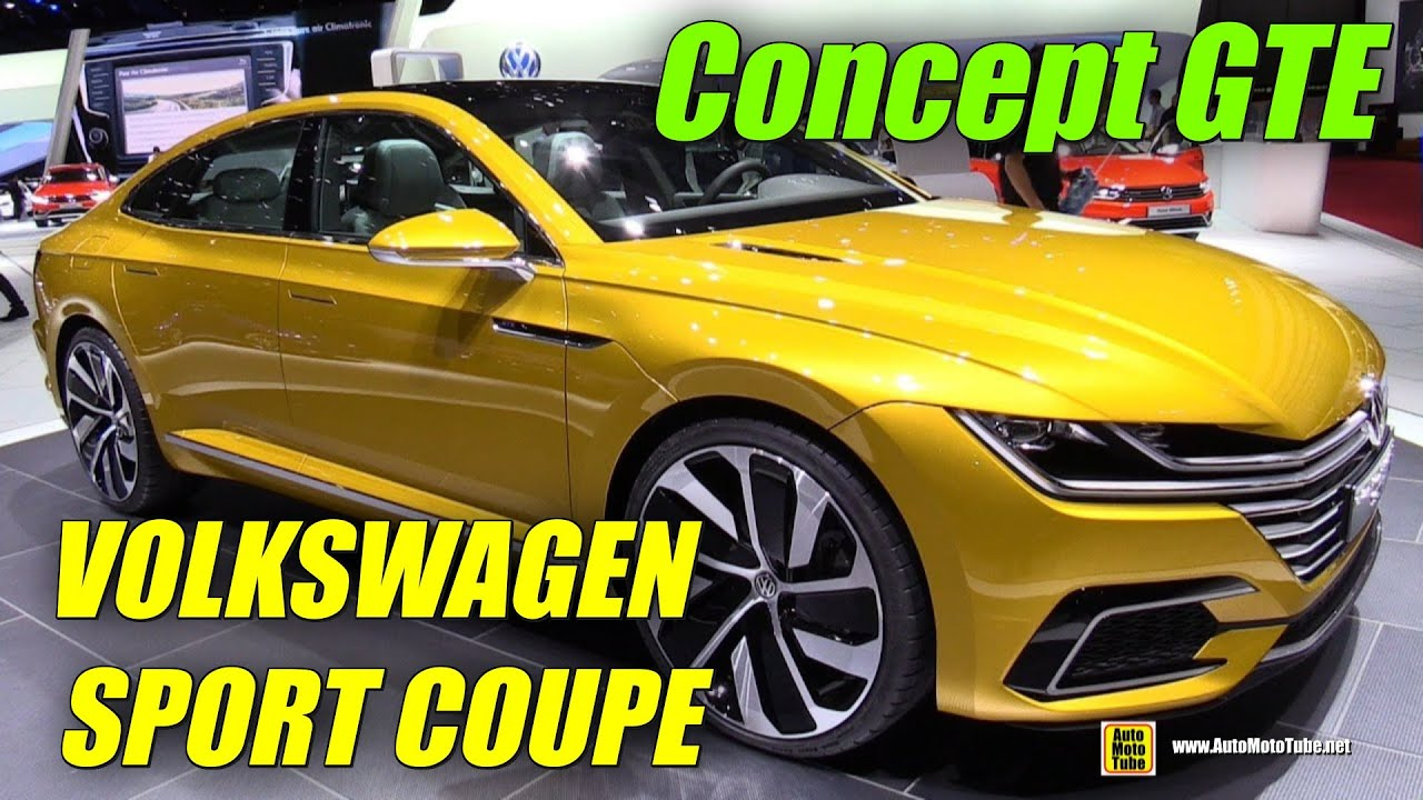 Volkswagen Sport Coupe Concept Gte Exterior And Interior Walkaround  Geneva Motor Show Youtube