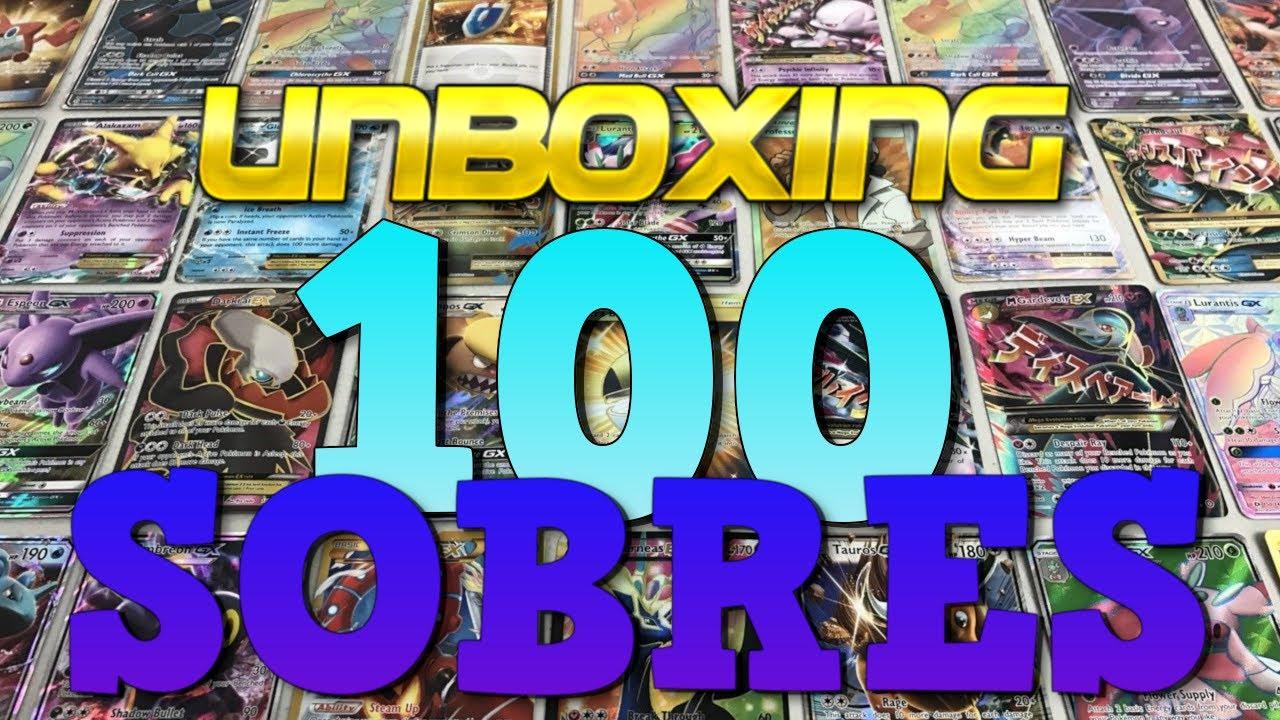 ABRIENDO 100 SOBRES DE CARTAS POKÉMON! ESPECIAL 100.000 SUSCRIPTORES