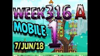 Angry Birds Friends Tournament Level 1 Week 316-A  MOBILE Highscore POWER-UP walkthrough
