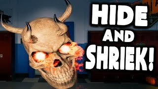 BEST HALLOWEEN GAME EVER! JUMP SCARE TO WIN! - Hide And Shriek (Scary Gameplay)