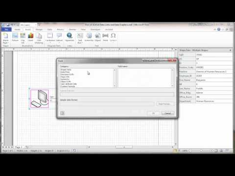 Visio 2010 Network Diagram Data Links and Data Graphics Tutorial