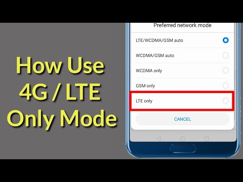 How To  Enable 4G/ LTE Only Mode On Any Android