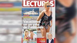Lydia Lozano disfruta de sus vacaciones en un lujoso yate