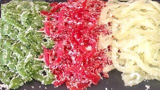 Cách Làm Bánh Tằm Khoai Mì Thơm Ngon Mềm Dẻo 3 Màu Đẹp Tự Nhiên Bằng Rau Củ