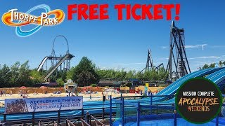 HOW TO GET A FREE TICKET TO THORPE PARK! | APOCALYPSE WEEKENDS