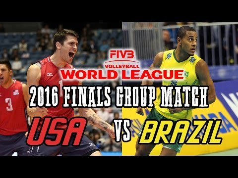 USA vs  BRAZIL 2016 World League...