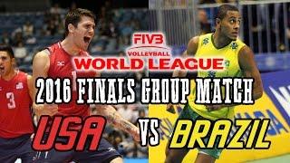 Usa Vs  Brazil 2016 World League Volleyball Finals Group Match   Full Match All