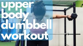 Upper Body and Core Dumbbell Workout | Personal Training Session