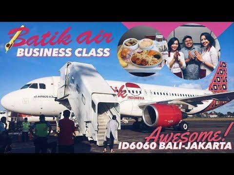 BATIK AIR Business Class ID6060 Bali to Jakarta Flight VLOG