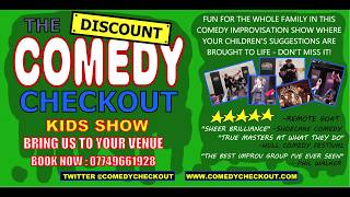 Discount Comedy Checkout - Kids / Family Show - Info Video