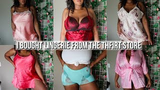I bought lingerie from the thrift store| plus size try on haul pt. 2