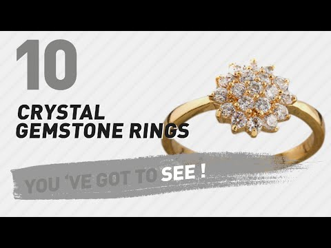 Crystal Gemstone Rings Top 10 Collection // UK New & Popular 2017