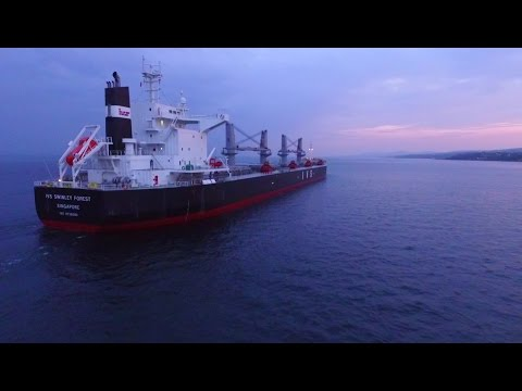 DJI Phantom 3 Advanced - Dusk Flight To Huge IVS Swinley Forest Coal Carrier