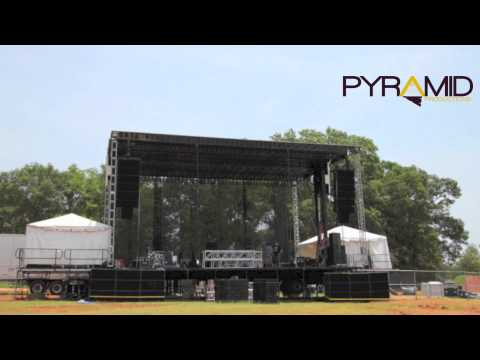 Time Lapse Load in of Impulse Music and Arts Festival 2012
