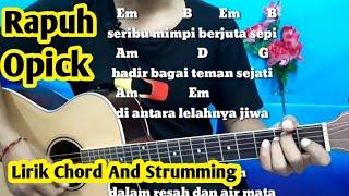 Download lagu Kunci Gitar Rapuh Opick | Mudah Dan Gampang By Darmawan Gitar